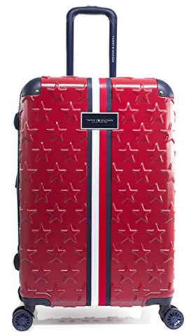 "Tommy Hilfiger Starlight 24"" Expandable Hardside Spinner, Red"
