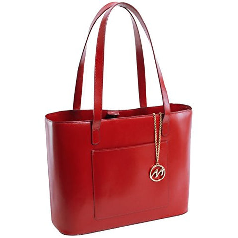McKlein Women's Fashionable Tote- 97536, Leather, Small, Red - ALYSON
