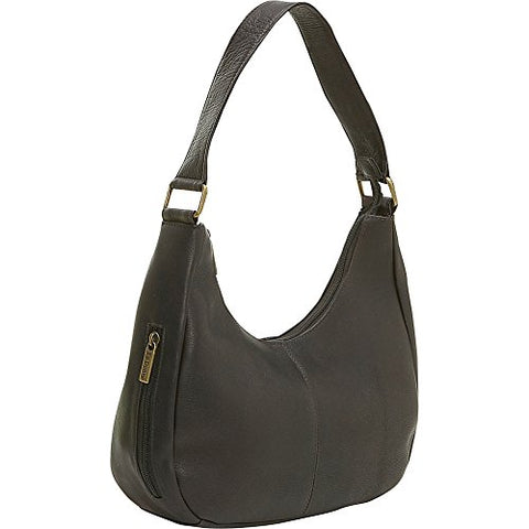Le Donne Leather Single Handle Side Zip Hobo - Cafã©