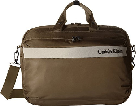 Calvin Klein Flatiron 3.0 Laptop Case Briefcase Brown One Size