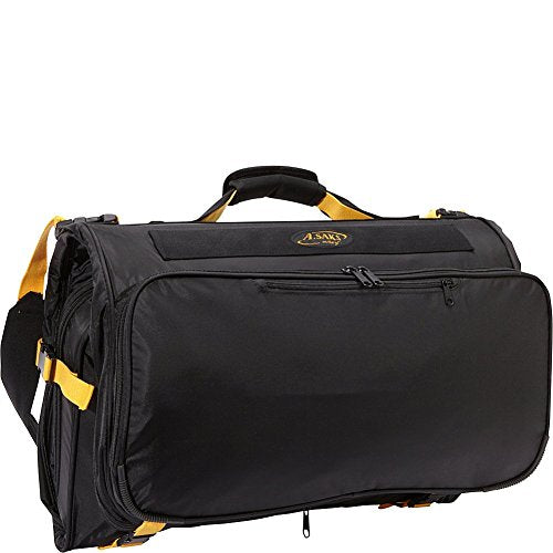 A. Saks Deluxe Expandable Tri -Fold Carry-On Garment Bag (Black)