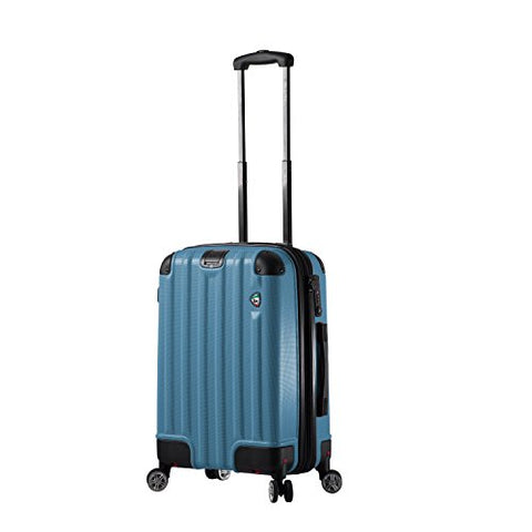 Mia Toro Italy Ruota Hardside Spinner Carry-on, Blue