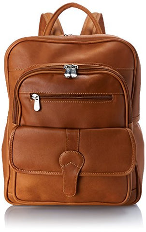 Piel Leather Medium Buckle Flap Backpack, Honey, One Size