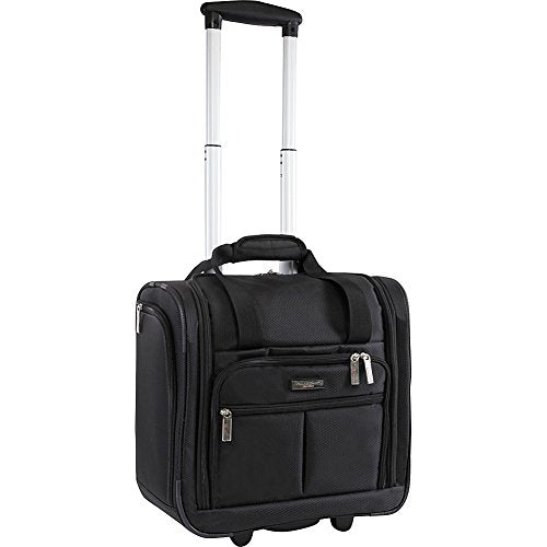 "Pacific Coast Signature Underseat 15.5"" Rolling Tote Carry-On, Black"