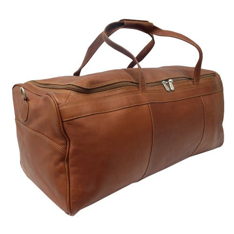 Piel Leather Traveler'S Select Large Duffel Bag, Saddle, One Size