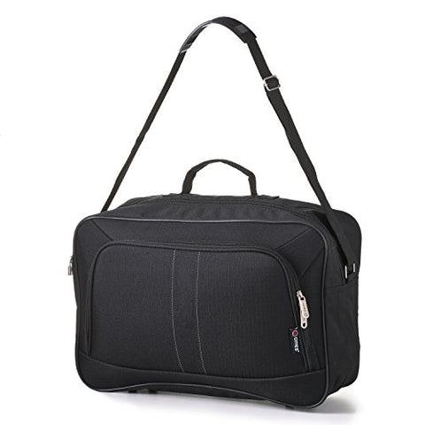 16 Inch Carry On Hand Luggage Flight Duffle Bag, 2nd Bag or Underseat, 19L, Black