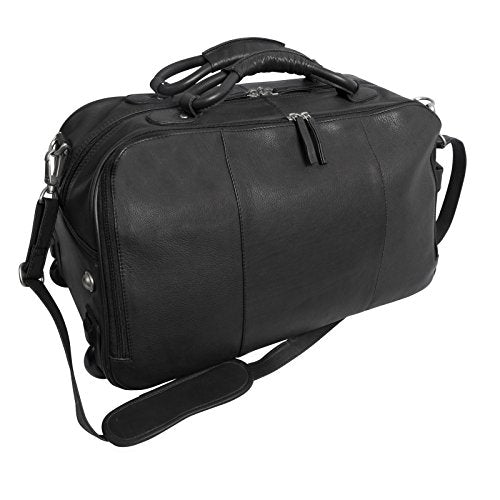 Canyon Outback Wildcat Canyon 20-Inch Rolling Leather Duffel Bag, Black, One Size