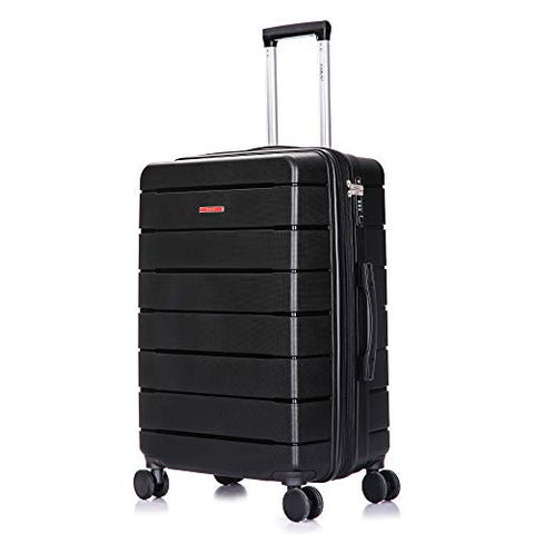 DUKAP Definity Lightweight Hardside Spinner 24'' inches Luggage Black