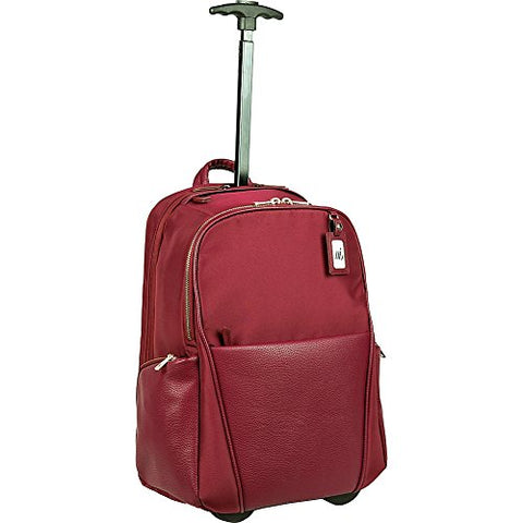Women In Business Portofino Ladies Roller Backpack (Burgundy)