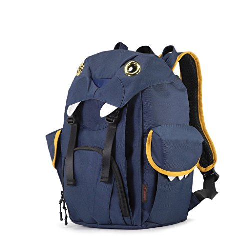 Darling's Little Monster Style Backpack Reflective Safety Feature Navy Blue