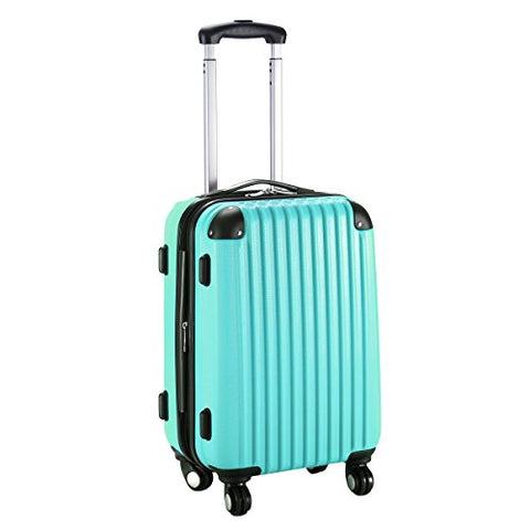 "GHP 15.2""x10.4""x22.4"" Green Scratch-resistant Lightweight & Durable Trolley Suitcase"