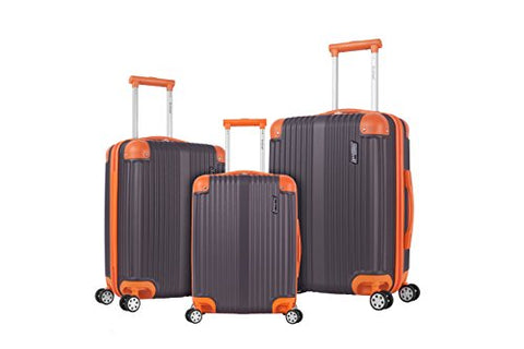 Rockland Hardside Spinner 3-Piece Luggage Set, Charcoal