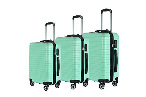 Brio Luggage Hardside Luggage 3 Piece Set- Light Green