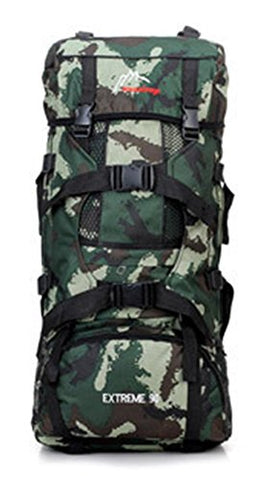 Chariot Trading - Large Capacity Professional Mountaineering Bag Outdoor Camping Hiking Double-Shoulder Canvas Backpack Camouflage General HB51 - CJ-BG-000355