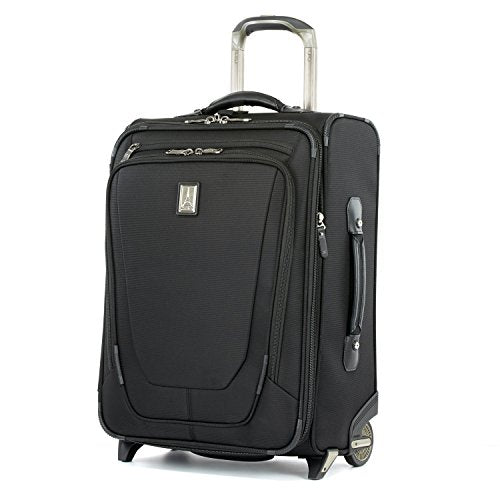 "Travelpro Luggage Crew 11 20"" Carry-on Expandable Business Plus Rollaboard w/USB Port, Black"