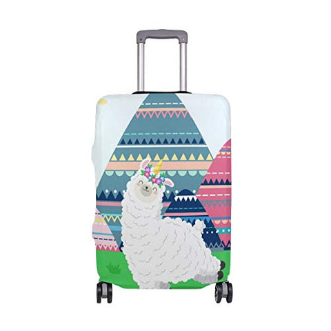 Luggage Cover Dancing Llama Suitcase Protector Travel Luggage 18-32 Inch