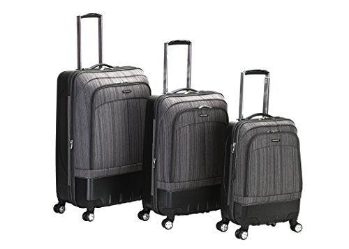 Rockland Luggage Milan Hybrid Eva 3 Piece Luggage Set, Grey, One Size