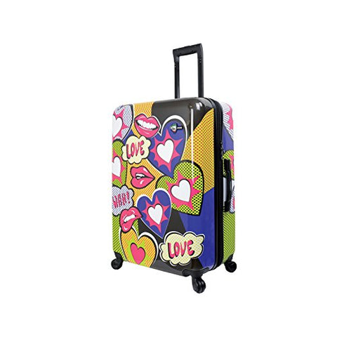 Mia Toro Italy Amore Hardside 28 Inch Spinner Luggage, Multi