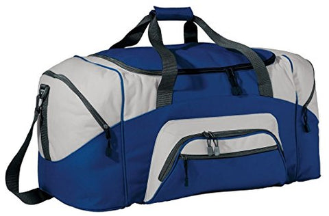 Port & Company - Color Block Sport Duffel, Royal/Grey