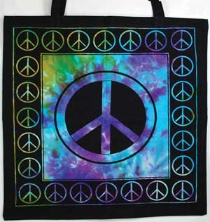 AzureGreen RB74PE Peace Sign Tote Bag