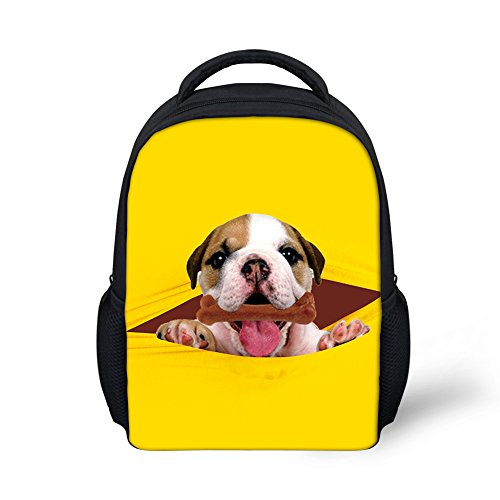 doginthehole Preschool Students Schoolbags Cute Dogs Children Book Bags Age 3-5