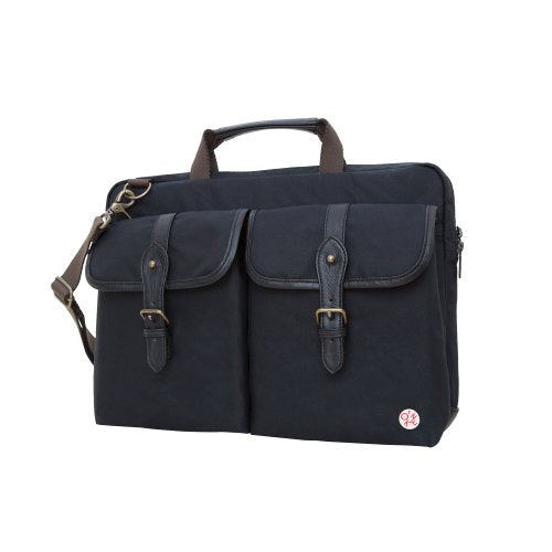 Token Bags Waxed Knickerbocker Laptop Bag 15 Inch, Black, One Size