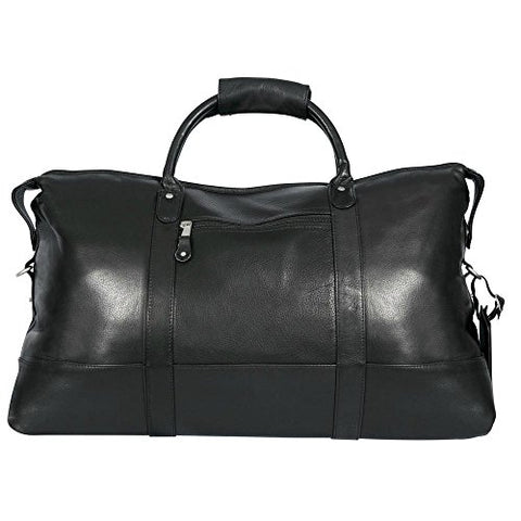 Canyon Outback Falls Canyon 22-Inch Leather Cabin Duffel Bag, Black, One Size