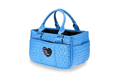 Tga Glossy Bright Blue Heart Ice Skating Bag Tennis Gym And Ballet Girls Athletic Bag