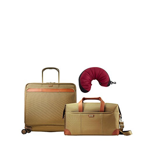 Hartmann Ratio Classic Deluxe | 3-Piece Set | Weekend Duffel & Extended Journey Expandable Glider, Travel Pillow