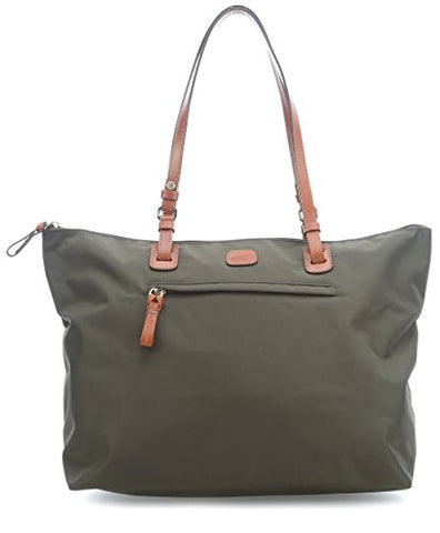 Bric's Women's X x 2.0 Large Sportina Shopper Tote Travel Shoulder Bag, Olive, One Size