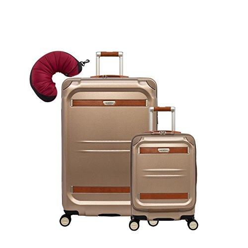 "Ricardo Beverly Hills Ocean Drive | 3-Piece Set | 19"" and 29"" Spinners, Travel Pillow (Sandstone)"