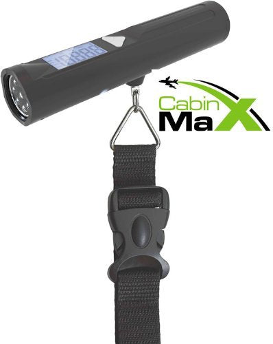 Cabin Max Digital Portable Travel Luggage Scale with 8 LED Torch