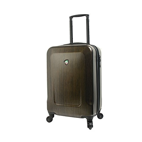 Mia Toro Italy Ingria Hardside Spinner Luggage Carry-on-Coffee