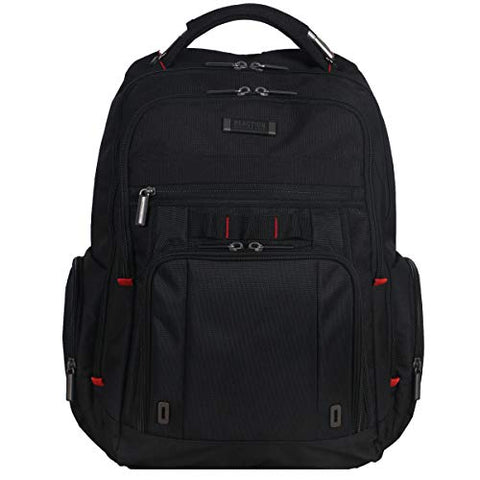Kenneth Cole Reaction Dual Compartment with USB Port (RFID) Laptop Backpack Black One Size