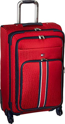 "Tommy Hilfiger Classic Signature Jacquard 25"" Expandable Spinner, red"