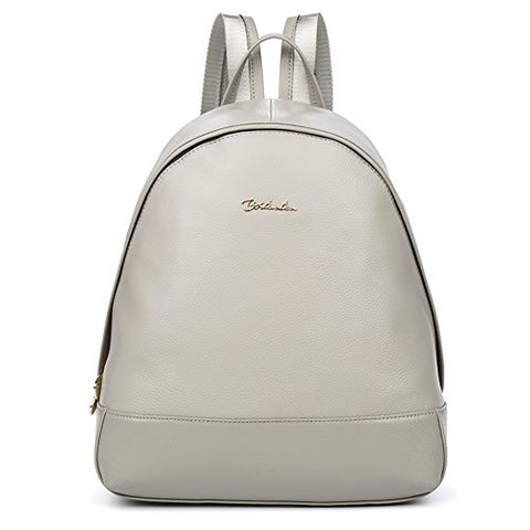 BOSTANTEN Vintage Soft Leather Backpack Purse Satchel Shoulder School Bags for Women Gray