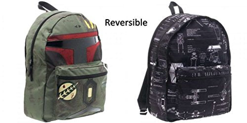 Backpack - Star Wars - Boba Fett w/Reversible Blue Print Licensed bp2zhwstw