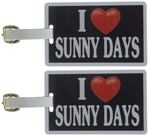 Tag Crazy I Heart Sunny Days Two Pack, Black/White/Red, One Size