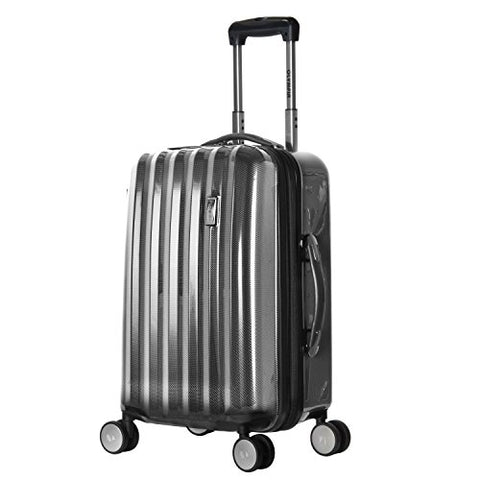Olympia Luggage Titan 21 Inch Expandable Carry-On Hardside Spinner, Black, One Size