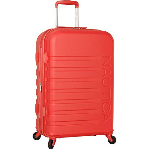 Nautica Henderson Harbor 24 Inch Hardside Expandable Suitcase, Cherry Red