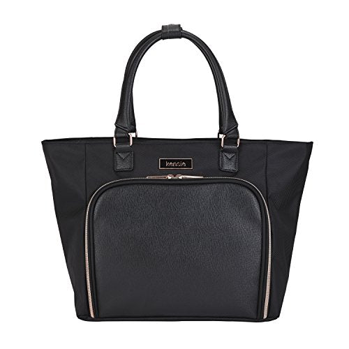 Kensie Luggage Kensie 14 inch Fashion Laptop Tote, Black, One Size