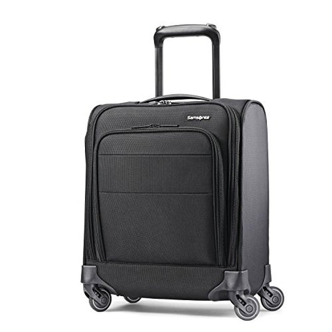 Samsonite Flexis Underseat Carry On Luggage with Spinner Wheels, Jet Black