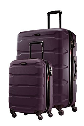 Samsonite Omni PC 2 Piece Set of 20 and 28 Spinner (Purple)