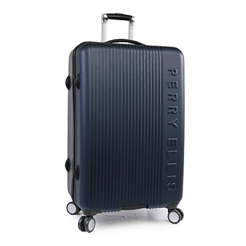 "Perry Ellis Forte Hardside Spinner Check In Luggage 29"", Navy"