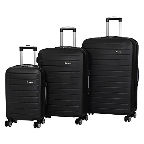 It Luggage Legion 3-Piece 8-Wheel Hardside Expandable, Black