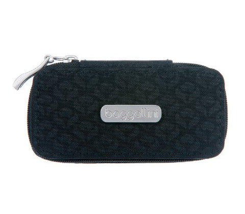 Baggallini Chelsea Lipstick Case Embossed Blossom, Black, One Size