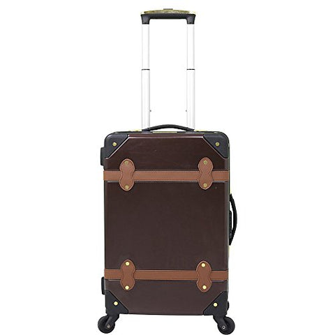 Chariot Titanic 20'' Hardside Spinner Carry On (Brown)