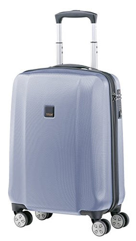 Titan Xenon Polycarbonate Hard Spinner Luggage - German Designed (Small, Bluestone)