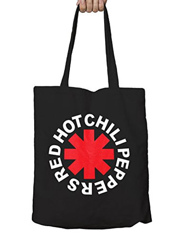 Red Hot Chili Peppers Tote Eco Shopper Bag Asterisk Logo Official Black
