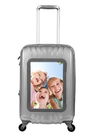 "Travelers Club Luggage 20"" Personalized Carry On W/360 Degree 4-Wheel System, Silver"